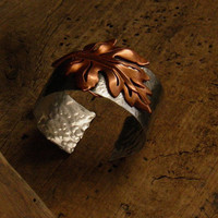 Aluminum and copper cuff bracelet by WillowRockDesigns on Etsy