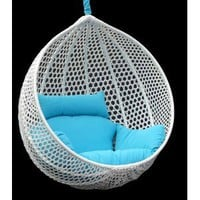 Ravelo - Vibrant Look Porch Hanging Chair With Stand - PE-03BK(Y9104BK)