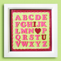 'I LOVE YOU' Alphabet Wall Art | Luulla