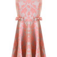 LOVE Pink Brocade Bow Dress