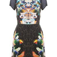 LOVE Mirror Print Aline Dress
