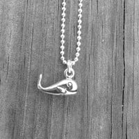 Whale Necklace, Sterling Silver