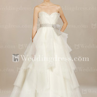 Strapless Tiered Organza Bridal Gown