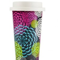 C.R. Gibson Iota Chic Porcelain Ready to Go Travel 16-Ounce Mug, Bloomin:Amazon:Kitchen & Dining