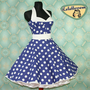 50&#x27;s vintage dress full skirt Polka Dots by Lolablossomclothing