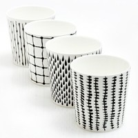 Poketo Bono Monochrome Cup Set of 4