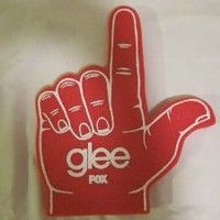 Red Glee Foam Hand Finger Collectible Cory Monteith Cast