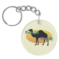"Camel ""Every Day is Hump Day"" Round Acrylic Key Chains"