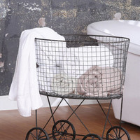 Boston Interiors: Vintage Laundry Basket