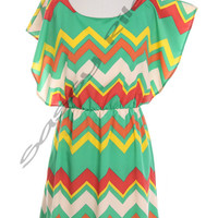 Zelia -- Fall Chevron Dress