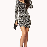 Tribal Print Bodycon Dress