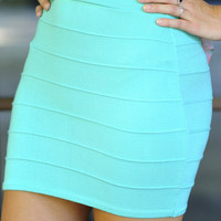 Banded With Love Skirt: Mint | Hope's
