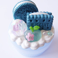 Blue Cookies and Cream Decoden Box by CapricaAccessories on Etsy