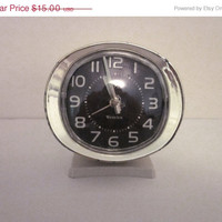 ON SALE Baby Ben Mechanical Clock by Westclock, Vintage, Retro, Mid Century
