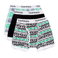 Geo Pattern 3 Pack Underwear - New In - TOPMAN USA