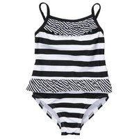 1-Piece Stripe Swimsuit