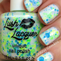 NEW Neon--It's A Breeze:  Custom-Blended NEON Glitter Nail Polish / Lacquer/ indie polish