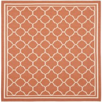 Safavieh Indoor/ Outdoor Courtyard Terracotta/ Bone Rug (5'3 Square) | Overstock.com