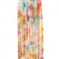 LOVE Watercolour Split Thigh Maxi Skirt - In Love With Fashion
