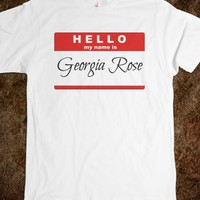 Georgia Rose name tag