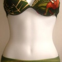 Afboutique 2 Pc Spiderman Lowrise Bikini Swimsuit