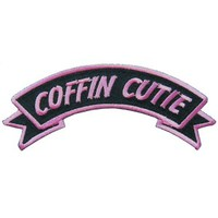 Coffin Cutie Arch Patch from Kreepsville 666 at Beadesaurus