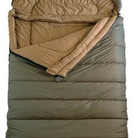 "TETON Sports Mammoth Queen Size Flannel Lined Sleeping Bag (94""x 62"", Green, 0 Degree F)"