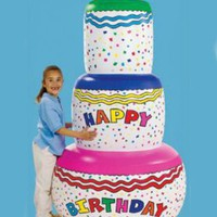 Jumbo Happy Birthday Inflatable Birthday Cake Party Decoration
