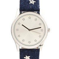 ASOS | ASOS Star Encrusted Strap Watch at ASOS