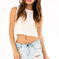 Miss Daisy Sequin Crop Top $28