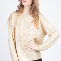 Metalic Sweater - CLOTHING