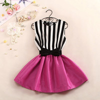 A 081705 Striped vest dress