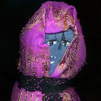 Little Lady Primitive Hand Made Babushka Rag 9 Doll | Linandara - Dolls & Miniatures on ArtFire