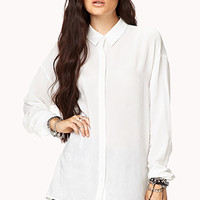 Chic Slit Relaxed Shirt | FOREVER 21 - 2000074665