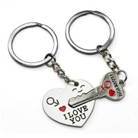 LE Key to My Heart Cute Couple Keychain Love Keychain Key Ring:Amazon:Everything Else