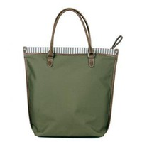 Canvas Leather Trim Totes