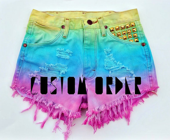 Vtg Denim Shorts Custom by WildHeartsShorts