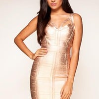 Bqueen Drain Back Bandage Dress HL004 - Designer Shoes|Bqueenshoes.com