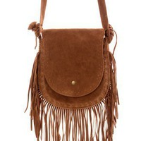 Camel Fringe Shoulder Bag - New Arrivals - Retro, Indie and Unique Fashion