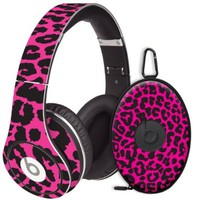 Pink Leopard Decal Skin for Beats Studio Headphones & Carrying Case by Dr. Dre:Amazon:Electronics
