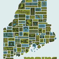 "Draplin Design Co.: DDC-092 ""Mostly Maine"" Poster"