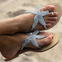 starfish beaded sandal by aspiga | notonthehighstreet.com