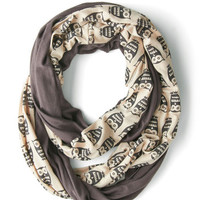 Peek of Pattern Circle Scarf Set in Owls | Mod Retro Vintage Scarves | ModCloth.com