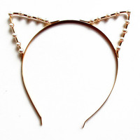 Pearl Kitty Ears Headband | Yotta Kilo