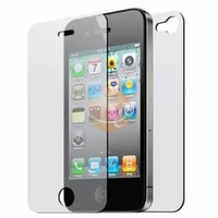  Front and Back Reusable Screen Protector for Apple iPhone 4 (3 pack): Cell Phones &amp; Accessories