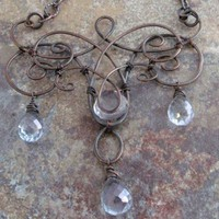 Antique Copper Necklace and Mystic Quartz | stonesforthesoul - Jewelry on ArtFire