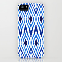 Ikat Blue iPhone & iPod Case by Amy Sia