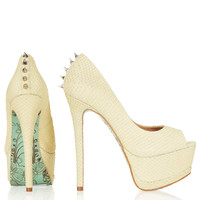 **CJG Peeptoe Courts By CJG - Sale - Sale & Offers - Topshop USA