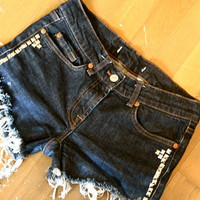Studded cut off Shorts by Wonderfuloriginals on Etsy