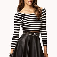 Striped Crop Top | FOREVER 21 - 2000074765